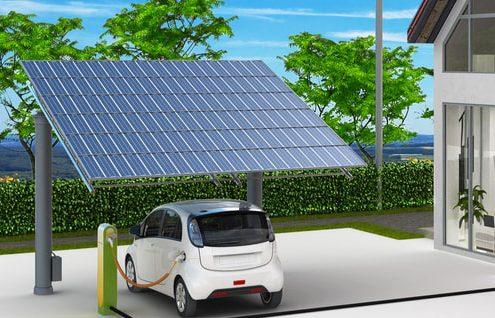 pensilina fotovoltaica mobilità auto elettrica